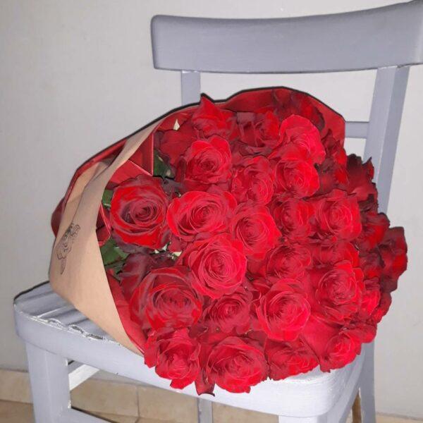 Veliki buket crvenih ruža